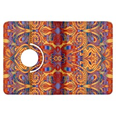Oriental Watercolor Ornaments Kaleidoscope Mosaic Kindle Fire Hdx Flip 360 Case by EDDArt