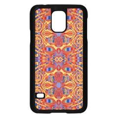 Oriental Watercolor Ornaments Kaleidoscope Mosaic Samsung Galaxy S5 Case (black)