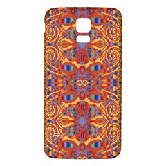 Oriental Watercolor Ornaments Kaleidoscope Mosaic Samsung Galaxy S5 Back Case (white) by EDDArt