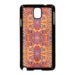 Oriental Watercolor Ornaments Kaleidoscope Mosaic Samsung Galaxy Note 3 Neo Hardshell Case (black) by EDDArt