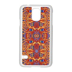 Oriental Watercolor Ornaments Kaleidoscope Mosaic Samsung Galaxy S5 Case (white) by EDDArt
