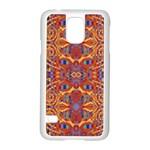 Oriental Watercolor Ornaments Kaleidoscope Mosaic Samsung Galaxy S5 Case (White)