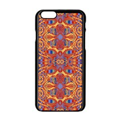 Oriental Watercolor Ornaments Kaleidoscope Mosaic Apple Iphone 6/6s Black Enamel Case by EDDArt