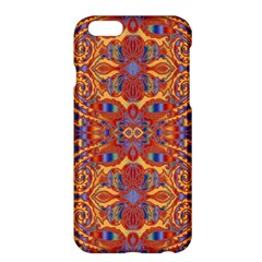 Oriental Watercolor Ornaments Kaleidoscope Mosaic Apple Iphone 6 Plus/6s Plus Hardshell Case by EDDArt