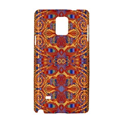 Oriental Watercolor Ornaments Kaleidoscope Mosaic Samsung Galaxy Note 4 Hardshell Case by EDDArt