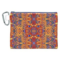 Oriental Watercolor Ornaments Kaleidoscope Mosaic Canvas Cosmetic Bag (xxl) by EDDArt