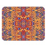 Oriental Watercolor Ornaments Kaleidoscope Mosaic Double Sided Flano Blanket (Large)