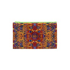 Oriental Watercolor Ornaments Kaleidoscope Mosaic Cosmetic Bag (xs) by EDDArt
