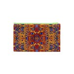 Oriental Watercolor Ornaments Kaleidoscope Mosaic Cosmetic Bag (XS) Back