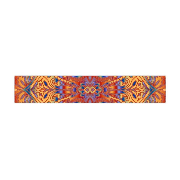 Oriental Watercolor Ornaments Kaleidoscope Mosaic Flano Scarf (Mini)