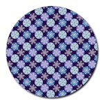 Snowflakes Pattern Round Mousepads