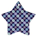 Snowflakes Pattern Ornament (Star)  Front