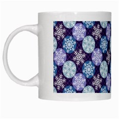 Snowflakes Pattern White Mugs by DanaeStudio