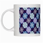 Snowflakes Pattern White Mugs