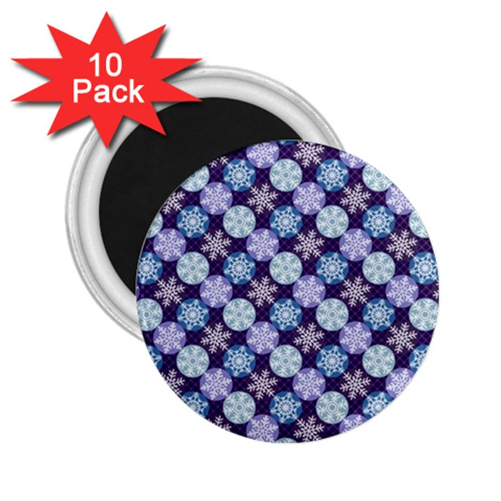 Snowflakes Pattern 2.25  Magnets (10 pack)