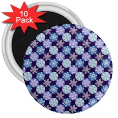 Snowflakes Pattern 3  Magnets (10 Pack)