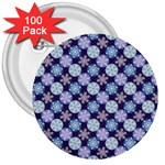 Snowflakes Pattern 3  Buttons (100 pack)