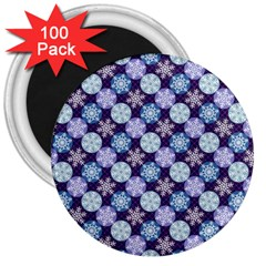 Snowflakes Pattern 3  Magnets (100 Pack) by DanaeStudio