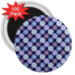 Snowflakes Pattern 3  Magnets (100 pack)