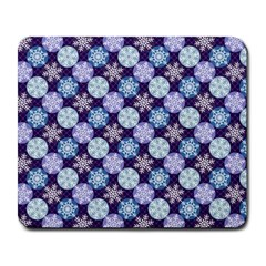 Snowflakes Pattern Large Mousepads by DanaeStudio