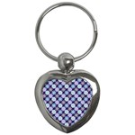 Snowflakes Pattern Key Chains (Heart)
