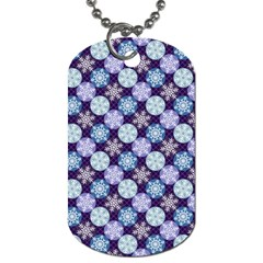Snowflakes Pattern Dog Tag (one Side) by DanaeStudio