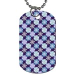 Snowflakes Pattern Dog Tag (Two Sides) Back