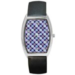 Snowflakes Pattern Barrel Style Metal Watch