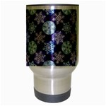 Snowflakes Pattern Travel Mug (Silver Gray) Center