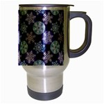 Snowflakes Pattern Travel Mug (Silver Gray) Right