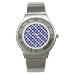 Snowflakes Pattern Stainless Steel Watch