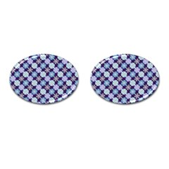 Snowflakes Pattern Cufflinks (oval) by DanaeStudio