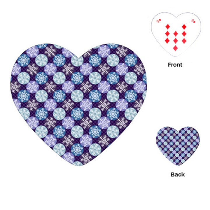 Snowflakes Pattern Playing Cards (Heart)