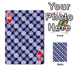 Snowflakes Pattern Playing Cards 54 Designs  Front - HeartK