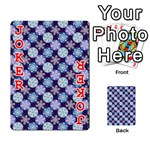 Snowflakes Pattern Playing Cards 54 Designs  Front - Joker2