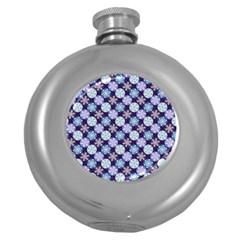 Snowflakes Pattern Round Hip Flask (5 Oz)