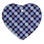 Snowflakes Pattern Heart Ornament (2 Sides) Back