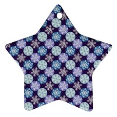 Snowflakes Pattern Star Ornament (two Sides)  by DanaeStudio