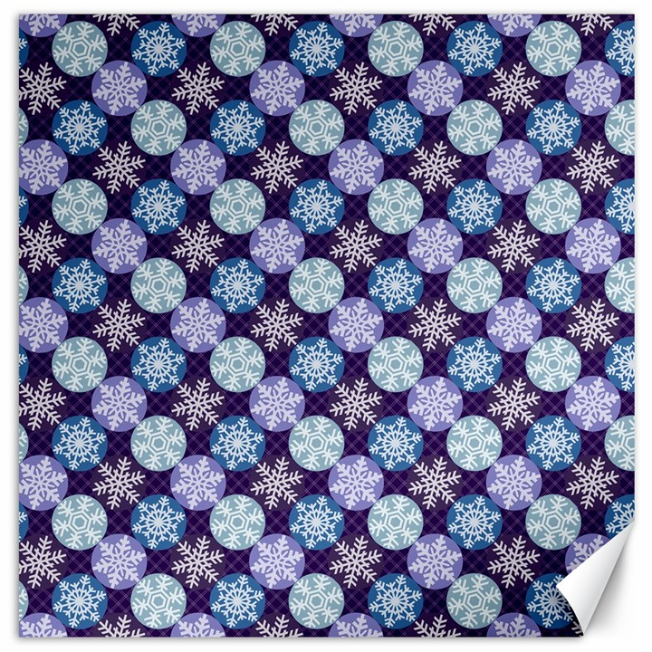 Snowflakes Pattern Canvas 20  x 20