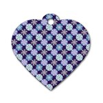 Snowflakes Pattern Dog Tag Heart (One Side)