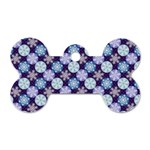 Snowflakes Pattern Dog Tag Bone (Two Sides)