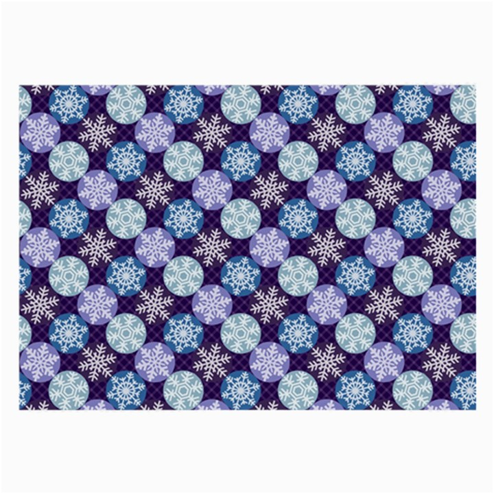 Snowflakes Pattern Large Glasses Cloth (2-Side)