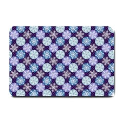 Snowflakes Pattern Small Doormat  by DanaeStudio