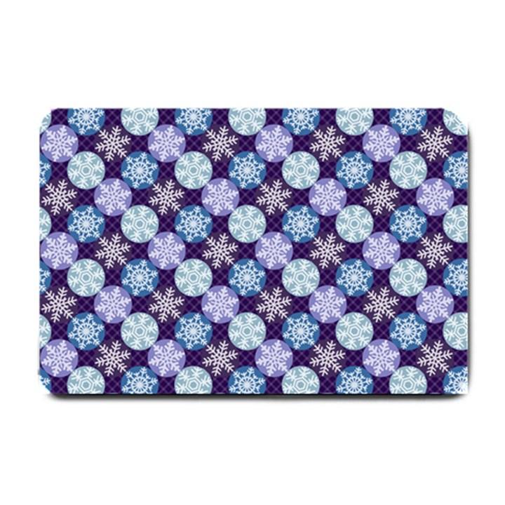 Snowflakes Pattern Small Doormat