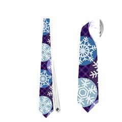 Snowflakes Pattern Neckties (one Side)