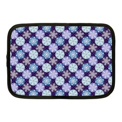 Snowflakes Pattern Netbook Case (medium)  by DanaeStudio