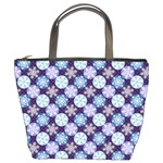 Snowflakes Pattern Bucket Bags Front