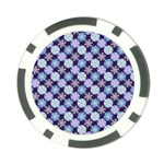 Snowflakes Pattern Poker Chip Card Guards (10 pack)  Back