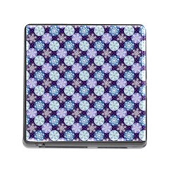 Snowflakes Pattern Memory Card Reader (square) by DanaeStudio