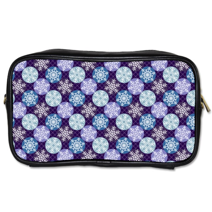 Snowflakes Pattern Toiletries Bags 2-Side